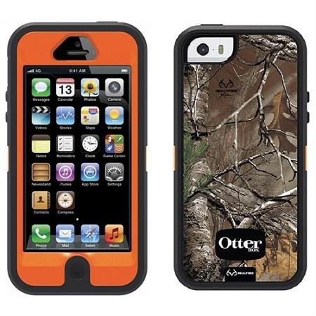 size 40 4d52e 05931 OtterBox Defender Series Case with Realtree Camo for Apple iPhone 5 - Xtra  Orange