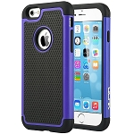 iPhone 6S Case, ULAK iPhone 6 / 6S (4.7 INCH) Case Shock Absorbing Hybrid Rugged Slim Cover Shell w/ Plastic Outer & Rubber Silicone Inner Cover (Navy Blue)