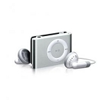 Mini Shuffling MP3 Player with USB Cable and Headphones silver
