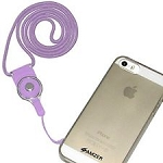 Universal Braided Cord Lanyard with Detachable Rotating Ring for Cell Phones, Keys and ID CardsPURPLE