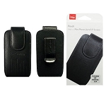 Verizon OEM Leather Standing Magnetic Pouch Sleek for Samsung Gusto 3 - Black