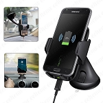 Fast Charging Qi Wireless Pad Car Mount ChargerBLACK