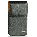 APPLE IPHONE 5 STITCHED PREMIUM VERTICAL LEATHER CASE, BLACK