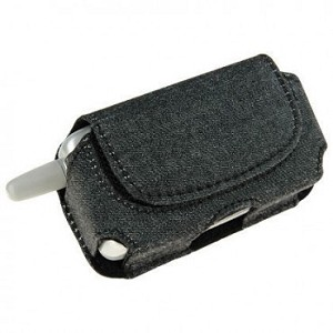 Horizontal Luxmo Pouch for Motorola V300 and Similar Sized Phones - Black Jean (3.46 x 1.81 x 0.96 in.)
