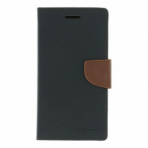 SAMSUNG GALAXY S4 GOOSPERY FANCY DIARY - BLACK/BROWN