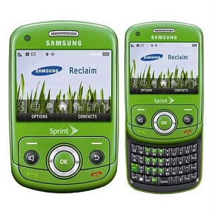 Sprint Samsung Reclaim M560 CDMA QWERTY Keyboard Slider  Green